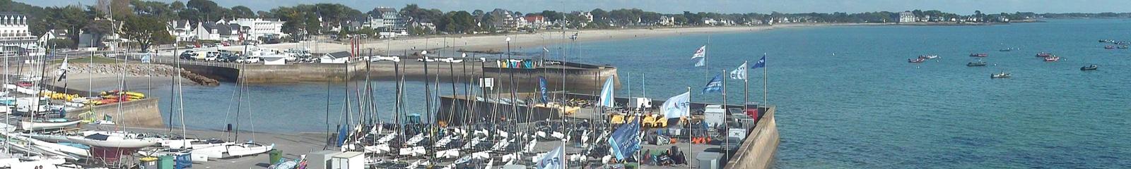 Vue de la webcam sur la base nautique de Port-en-Dro à Carnac