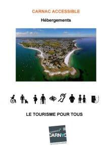 Hébergements accessibles à Carnac couverture guide OT Carnac