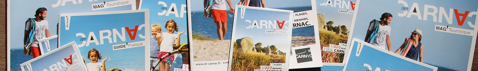 Brochures éditées par l'Office de tourisme de Carnac